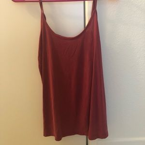 Red side cut out tank